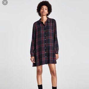 Zara Checked Dress with Pockets